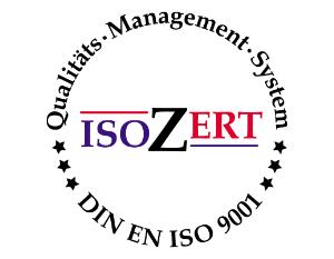 Zertifiziertes DIN ISO 9001 Qualitätsmanagement